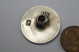 Antique English Georgian Period Silver Monogrammed Button C1770 photo