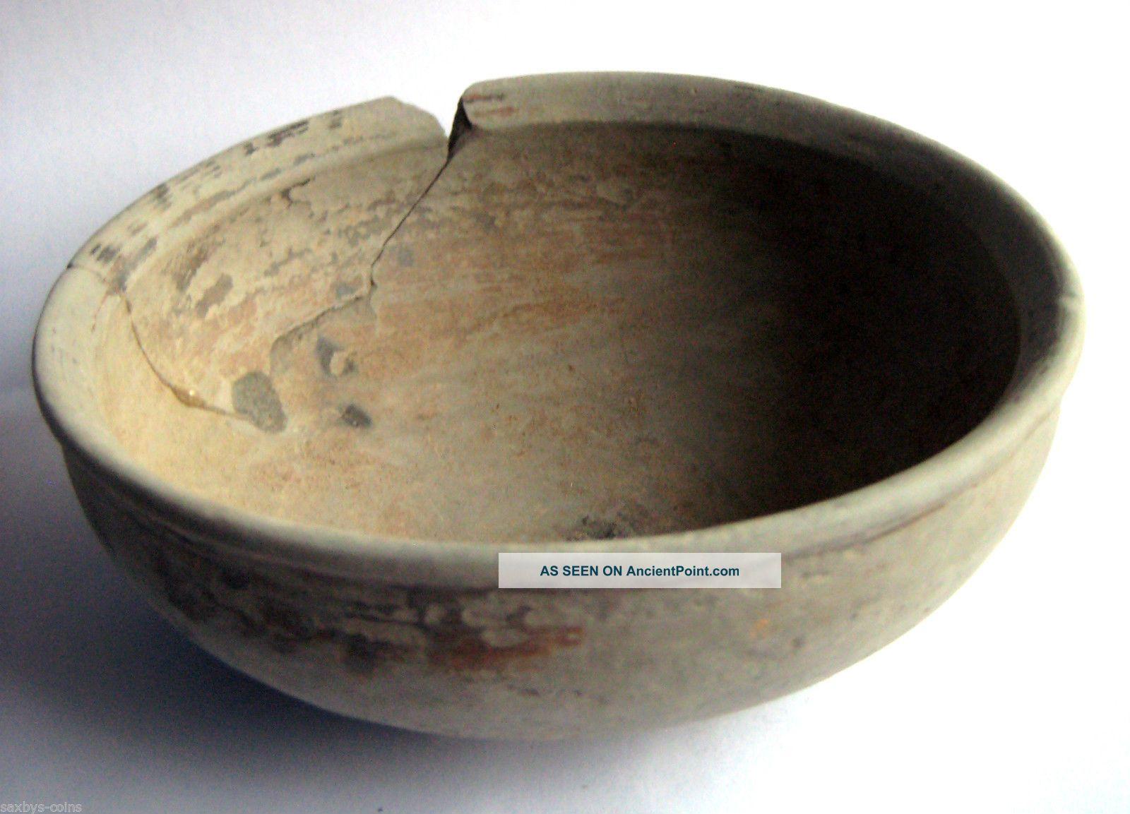 Circa.  1000 - 800 B.  C Ancient Greece - Archaic Period Decorated Clay Bowl Greek photo