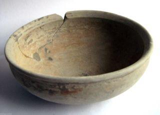 Circa.  1000 - 800 B.  C Ancient Greece - Archaic Period Decorated Clay Bowl photo