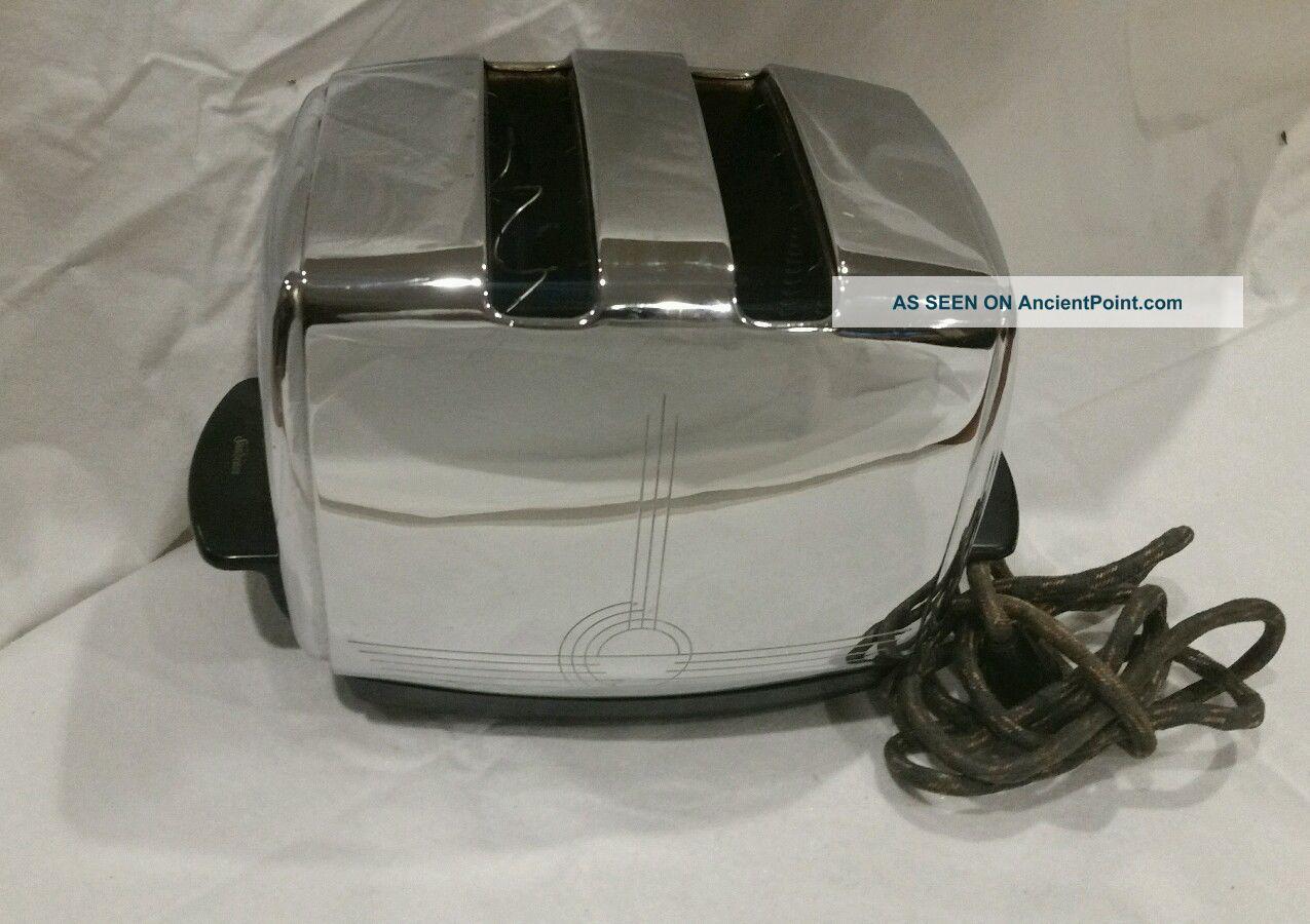 Vintage 50s Sunbeam T - 20b Automatic Radiant Control 2 - Slot Chrome Toaster Toasters photo