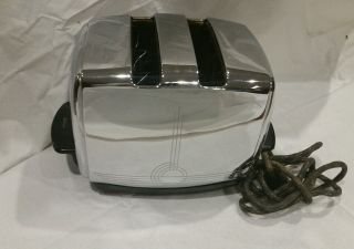 Vintage 50s Sunbeam T - 20b Automatic Radiant Control 2 - Slot Chrome Toaster photo