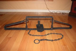 Antique Bear Trap 45 Inch Blacksmith Forged Port Allegany,  Pa.  Appalachian Mts. photo