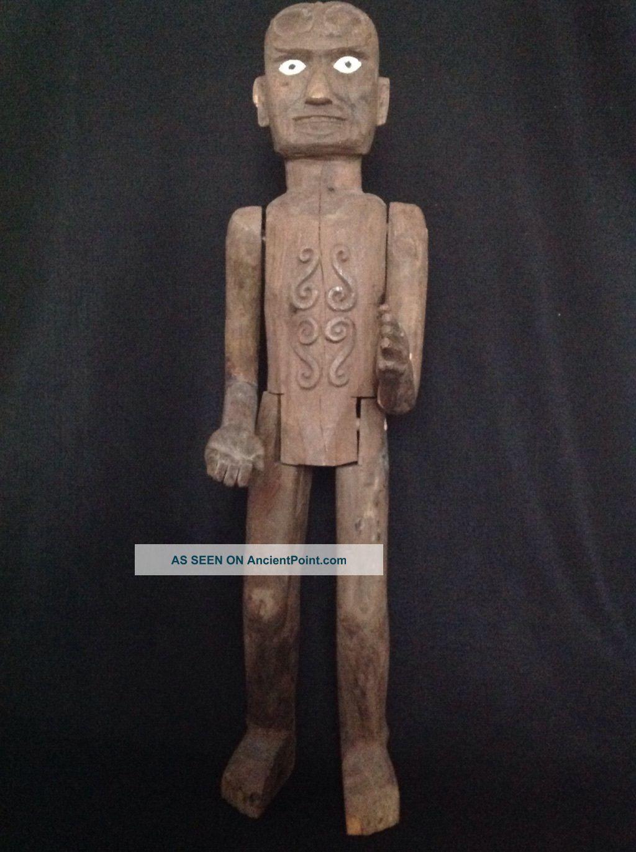 Rare 3 Feet Tall Toraja Tau Tau Figure Sulawesi Indonesian Tribal Art Pacific Islands & Oceania photo