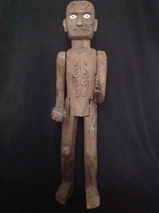 Rare 3 Feet Tall Toraja Tau Tau Figure Sulawesi Indonesian Tribal Art photo