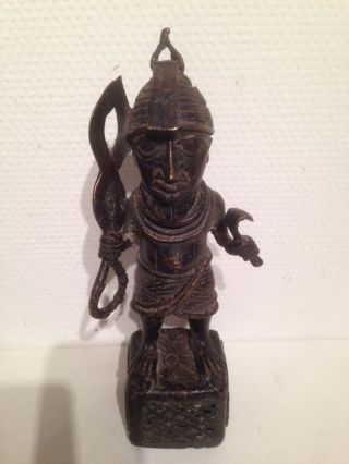 Nigeria: Tribal Bronze Benin Figure - 25 Cm And 2.  5 Kilo photo