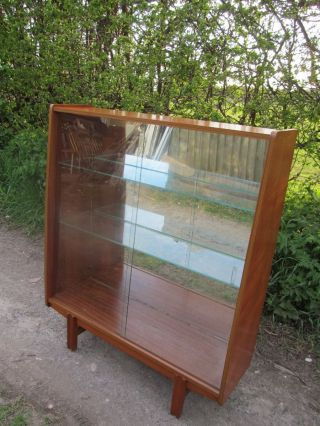 A Mid Century Modern Teak Danish Sliding Glass Door 1960 ' S Bookcase photo