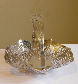 Pretty Silver Plated Bon Bon Dish Epns Rand England photo