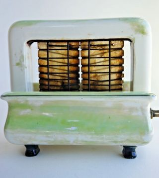 Art Deco Onyxide Toastrite Porcelain Electric Toaster Rare Collectible photo