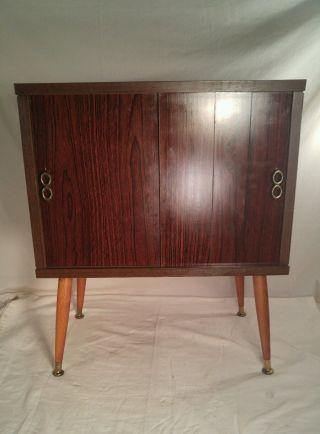 Vintage Lu Van Inc.  Mid Century Stereo Lp Record Cabinet Credenza photo