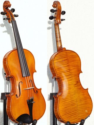 Czech Vintage Violin,  Faithful Stradivarius Copy.  Gorgeously Mellow Tone photo