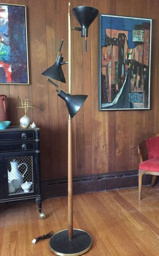 Vintage 50s Mcm Gerald Thurston Lightolier Floor Lamp Laurel Era Triennial photo