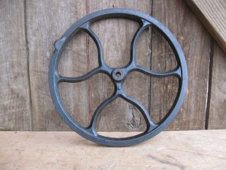 Antique Cast Iron Fly Wheel From A Singer Treadle Sewing Machine photo