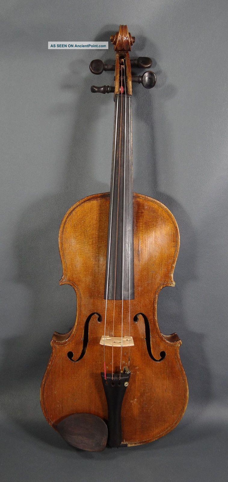 Antique German 4/4 Violin Fiddle Soloist Master Instrument Antonius Stradivarius String photo