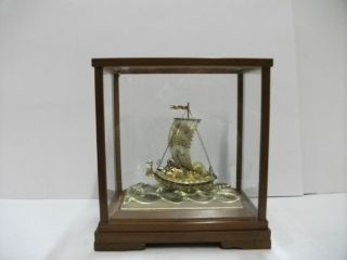Silver960 The Japanese Treasure Ship.  96g/ 3.  38oz.  Takehiko ' S Work. photo