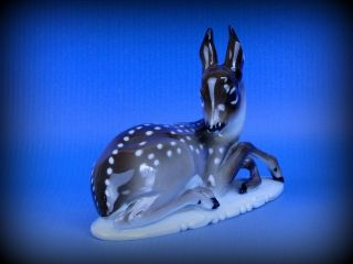 Antique Rosenthal Rare Deer Brown And White Porcelain Figurine Germany Marked photo