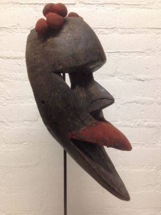 Liberia: Old African - Tribal - Mask From The Dan. photo