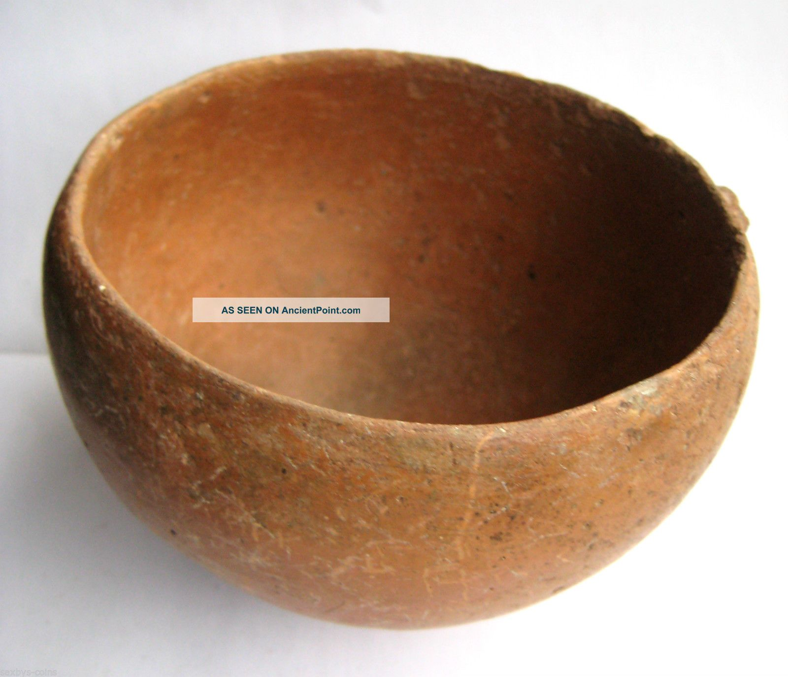 Circa.  1000 - 800 B.  C Ancient Greece - Archaic Period - Bronze Age Clay Bowl Greek photo