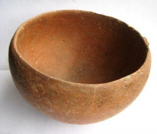 Circa.  1000 - 800 B.  C Ancient Greece - Archaic Period - Bronze Age Clay Bowl photo