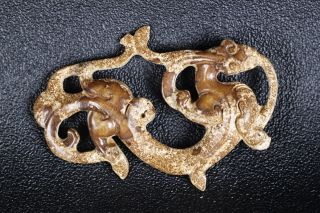 Hand - Carved Chinese Stereoscopic Dragons In The Warring States Period photo