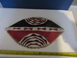 Masai,  Kenya,  African Hide Skin Tribal Shield Probably Childs Or Ceremonial.  Old photo