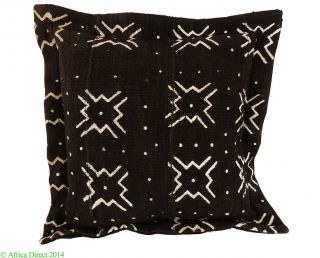 Mudcloth Pillow Black And White Mali 16 X 16 Inch African Art Was $175 photo