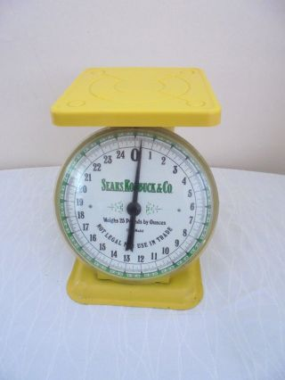 Vintage 1906 Sears Roebuck & Co.  Metal Scale Mustard Yellow Hard To Find photo
