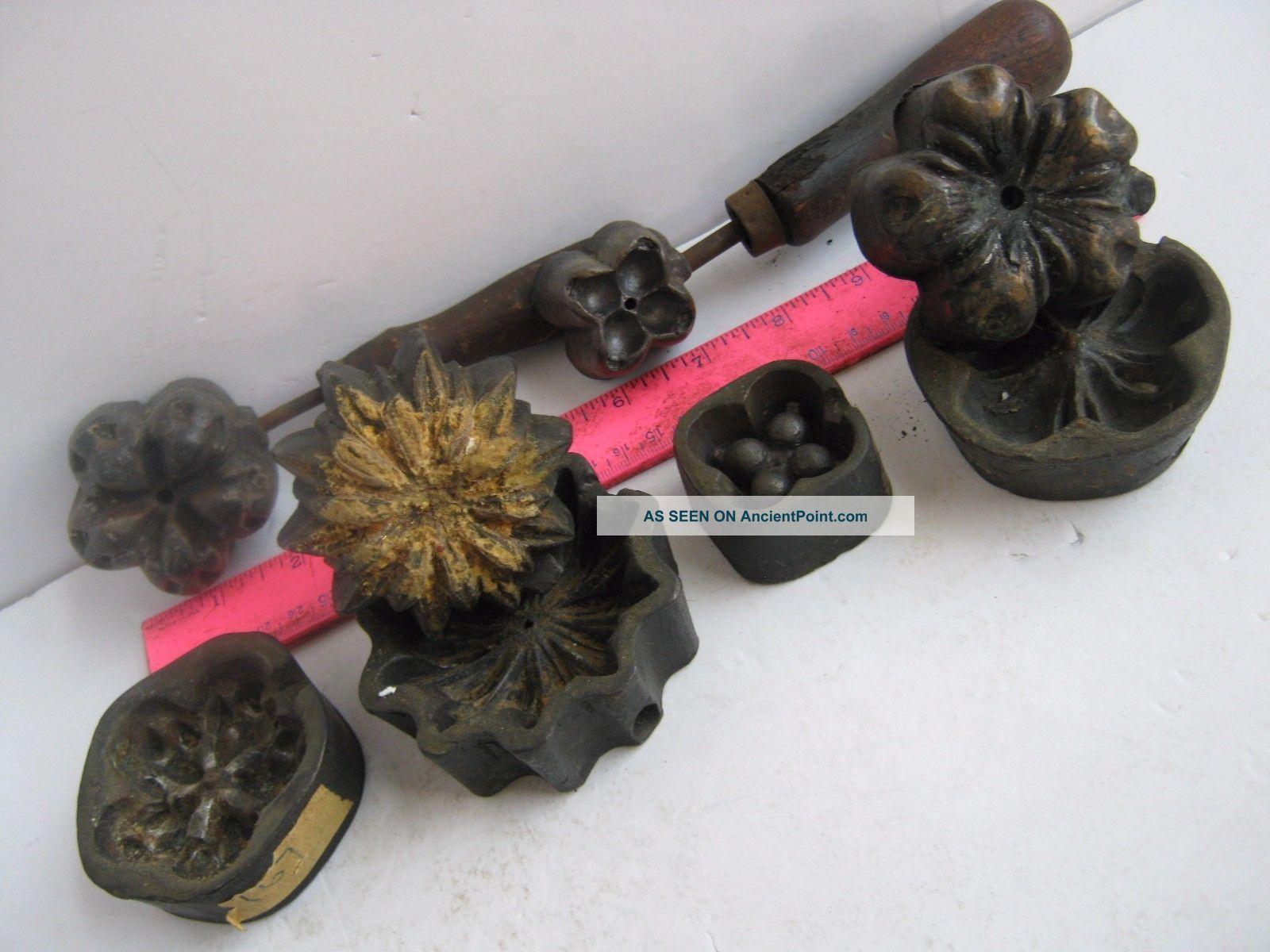 Four 4 bronze molds millinery silk flowers 2 marked molla tool four 4 bronze molds millinery silk flowers 2 marked molla tool corp n y c mightylinksfo