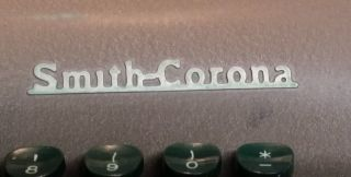 Smith Corona Silent Typewriter Portable With Hard Case Vintage 1950 ' S photo