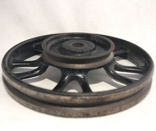 Vintage Cast Iron Wheel 6 1/8