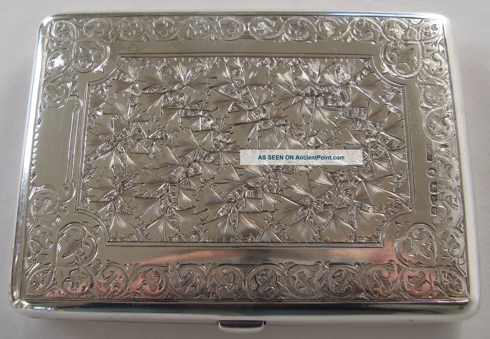 Stunning Antique Sterling Silver Victorian Card Case Purse Chester 1879 Card Cases photo