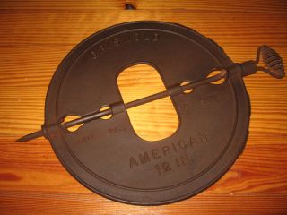 Cast Iron Griswold 12 Inch Stove Damper photo