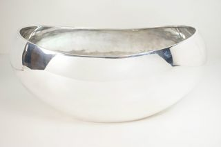 Mid Century Modern 925 Sterling Silver Fruit Bowl photo