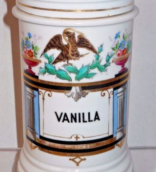Early 19th Century Vanilla Extract / Bean Apothacary Jar W/ Spread Wing Eagle photo