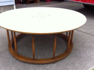 Danish Modern Round Coffee Table photo