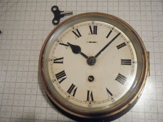 F W Elliott Ships / Bulkhead Brass 8 - Day Clock / Black - (military Wwii ?) photo