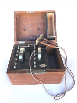 Antique Mcintosh Battery & Optical Co.  1882 Shock Therapy Machine Medical Quack photo