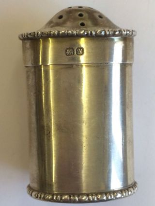 Antique Solid Silver Pepperette Pepper Canister Chester Stokes & Ireland 1924 photo