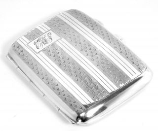 Cigarette Case Unusual Interior Sterling Silver photo
