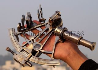 Nautical Brass Antique Sextant Maritime Collectible Marine Ship Instrument Gift photo