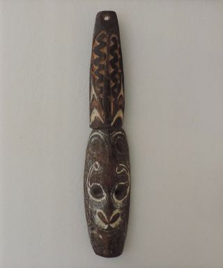 Antique Papua Guinea Hand Carved Wood Mask. photo