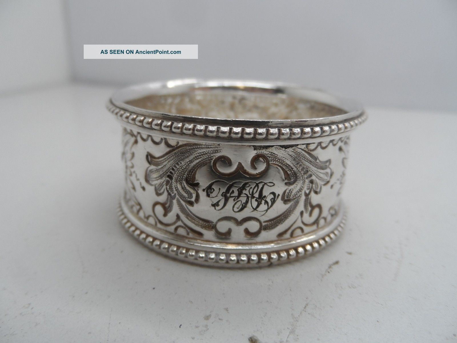2 Victorian Decorative Silver Plated Napkin Ring C - 1890 ' S Napkin Rings & Clips photo