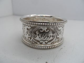 2 Victorian Decorative Silver Plated Napkin Ring C - 1890 ' S photo