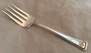 1913 International American Silver Plate Company Roanoke Large Serving Fork photo