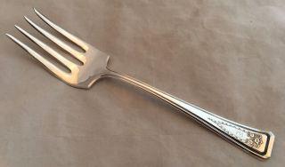 1913 International American Silver Plate Company Roanoke Large Serving Fork photo