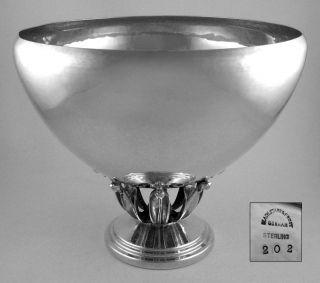 Black Starr,  Frost & Gorham Inc.  (1929) Sterling Blossom Hand Hammered Bowl photo