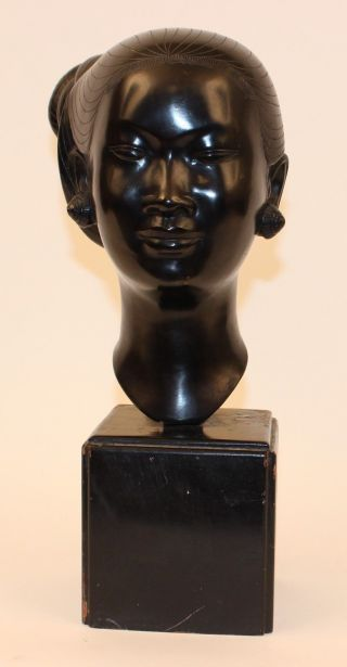 Nguyen Thanh Le Vietnamese Bronze Bust Of Woman 13 1/2