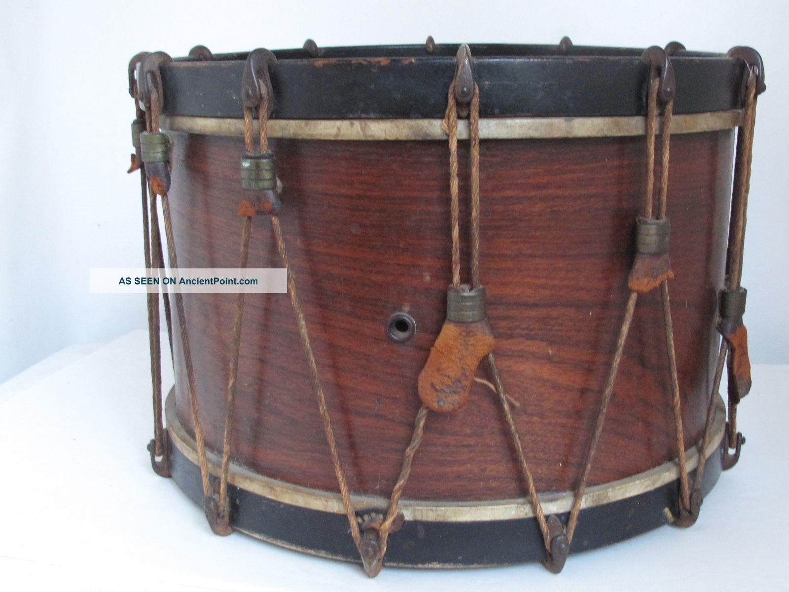 Antique Marching Snare Drum Percussion photo