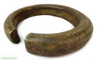 Nigerian Brass Bracelet Currency African Art Huge 7 Inch Was $99 photo
