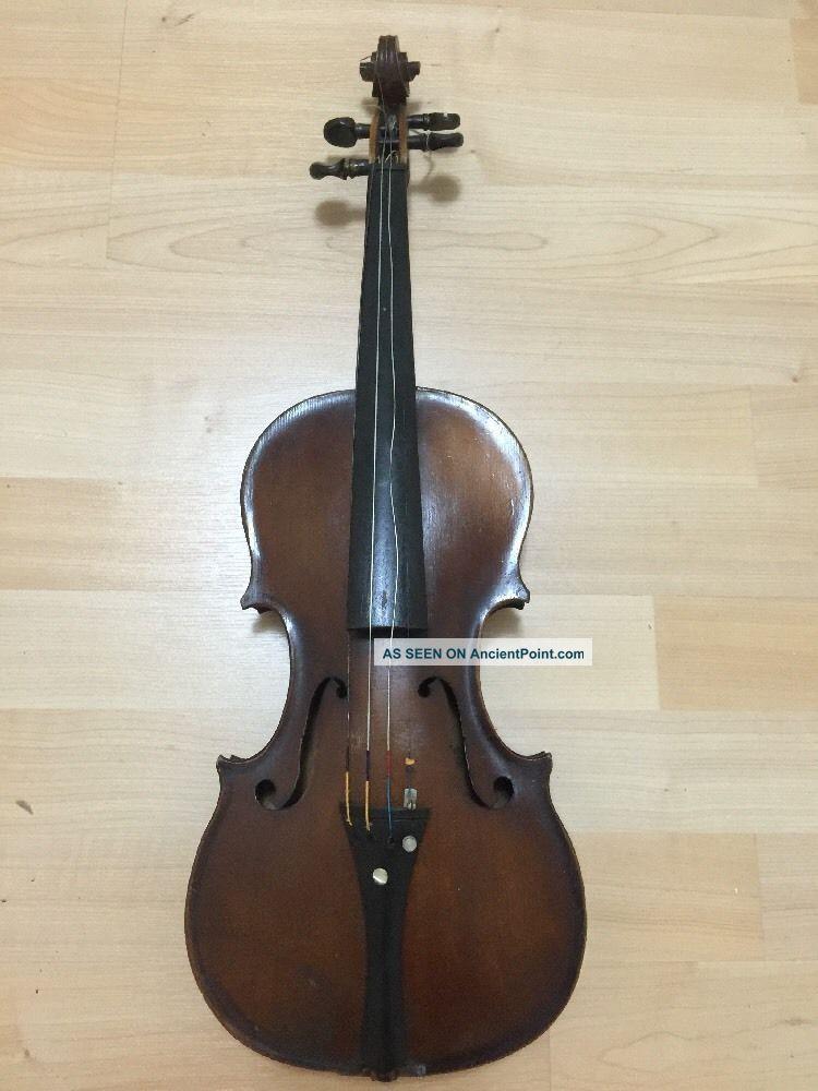 Antonius Stradiuarius Cremonensis Violin Faciebat Anno 17 Usa Vintage String photo