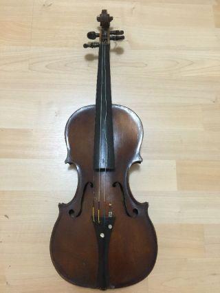 Antonius Stradiuarius Cremonensis Violin Faciebat Anno 17 Usa Vintage photo